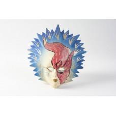 Maschera veneziana blu e rossa