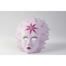 Maschera veneziana rosa